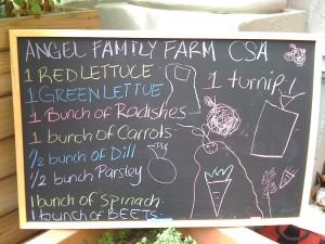CSA Share Vegetables